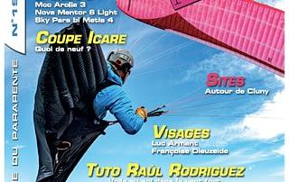 leGPSBip+ en couverture de Parapente Mag