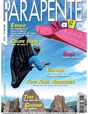 leGPSBip+ made the cover of Parapente Mag
